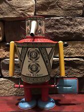 Mr. Sandman Tin Litho Robot 1945 Wolverine Space Era Scarce Toy Complete!!