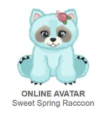 Webkinz Sweet Spring Raccoon *Code Only*