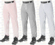 Alleson Athletic Ankle Length Pinstripe Baseball Pants Elastic Bottoms 605PIN