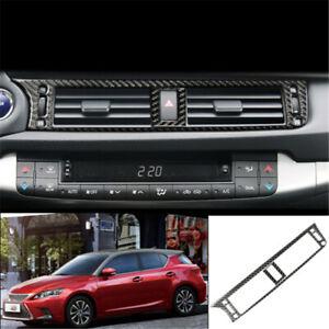 For Lexus CT200h 11-17 Carbon Fiber central console air outlet vent cover trim