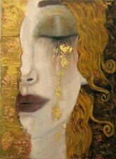"""GOLDEN TEARS"" BY ANNE MARIE ZIMMERMAN, SCHOOL OF KLIMT, FRIDGE MAGNET"