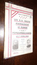 LES S.S. NAZIS MASSACRENT LE CLERGE & LA POPULATION D'ASCQ - 1er avril 1944