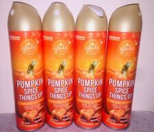 Lot of  NEW (4) Glade Pumpkin Spice Things Up Air Freshener Spray, 8 oz