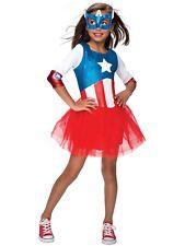 Superhero American Dream Metallic Halloween Costume Dress Medium 8-10 YO Girls