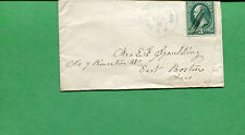 New Hampshire Cover - Francistown c1875 CDS, W/ MS Killer Cancel 3cBN - S8525