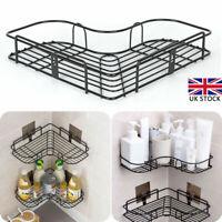 Bathroom Corner Storage Rack Shower Shelf Organiser Basket Tidy Metal Punch-Free