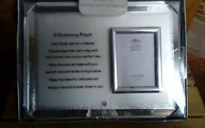 Leonardo collection silver plated christening payer photo frame new & sealed