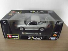 BURAGO PORSCHE GTG3 1:24 SCALE DIECAST MODEL CAR IN SILVER..