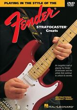 Playing in the Style of the Fender Stratocaster Greats DVD Instruction 000320381