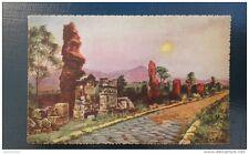 carte postale ancienne de Rome: peinture via Appia