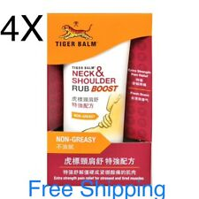 4X Tiger Balm Neck & Shoulder Rub Boost (50g) Extra Strength Pain Free Shipping