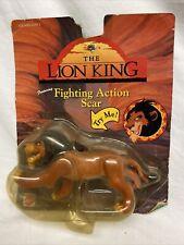 Fighting Action Mufasa The Lion King Disney Mattel Vintage 90s Figure on Card