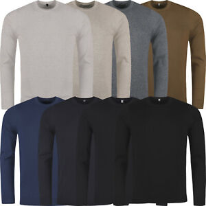 M&S Mens Jumper Crew Round Neck Knit Cotton Fitted Pullover Sweater Knitwear Top