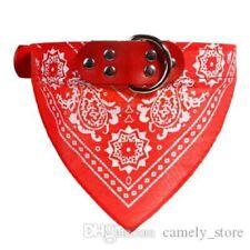 LARGE RED BANDANA DOG COLLAR