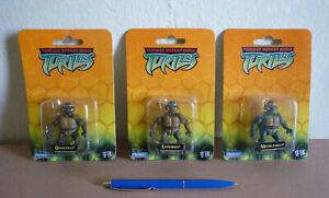 """* * Lot of 3 2003 TMNT mini 2.25"""" Figures Teenage Mutant Ninja Turtles Playmates"""