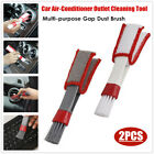 2PCS 16cm Car Air-Conditioner Outlet Cleaning Tool Multi-purpose Gap Dust Brush photo