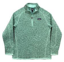 BRAND NEW! PATAGONIA Better Sweater 1/4 Zip Jacket  Girls M (10)  Vjosa Green