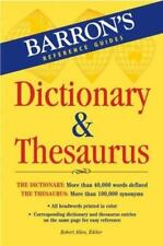 Barron's Dictionary and Thesaurus (2007, Paperback)