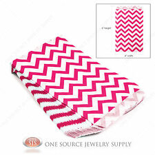 "100 Pink Chevron Print Paper Bags Gift Bags Merchandise Bags  4"" x 6"""