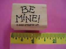 Stampin Up rubber stamp Whimsical BE MINE tag versatile love Retired