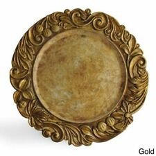 Jay Companies Antique Gold Charger Plate 14-inch Plate (Set of Four)