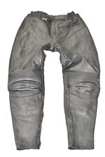 """Black Real Leather AKITO Tapered Armour Biker Men's Trousers Pants Size W31"""" L29"""
