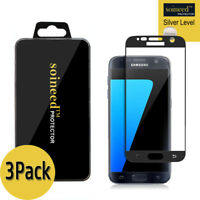 [3-Pack] SOINEED Samsung Galaxy S7 FULL COVER Tempered Glass Screen Protector