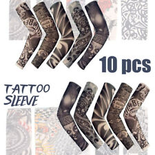 10pcs Temporary Tattoo Cooling Arm Sleeves Cover Golf Sport UV Sun Protection