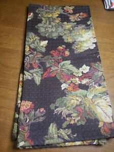 April Cornell Brown Green Floral Print Dish Kitchen Towel NEW 26 x 17