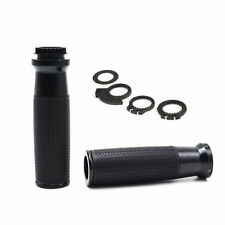 "CNC Motorcycle 7/8"" 22mm Handlebar Hand Grip Black For YAMAHA MT07 MT09 MT01"