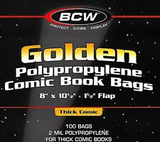 50 Golden Thick Comic Bags and Boards New BCW Assembled