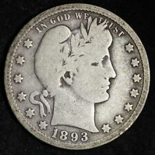 1893-O Barber Quarter CHOICE VG FREE SHIPPING E263 KL