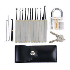12pcs Clear Practice Transparent Lock Locksmith Training Unlocking Pick Tool Set