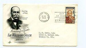 Canada FDC #495 Art Craft Cachet Sir Osler Physician 1969 98-1