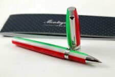 Montegrappa Fortuna Tricolore Stylo Roller Résine Vert,Blanc,Rouge Neuf Rare