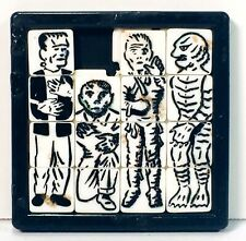 Frankenstein The Creature The Mummy and The Wolf Man Sliding Squares Puzzle 1963