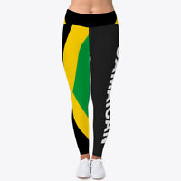 9976172055490 Jamaican Flag Leggings Women's Print Fitness Stretch *Leggings* Yoga Pants