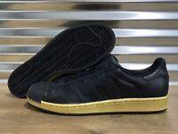 Adidas Superstar Originals Lifestyle Shoes Black Gold Leather SZ ( BB8119 )