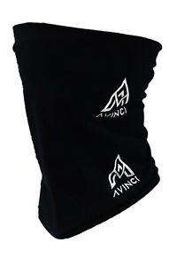 Avinci BLACK Face Covering Mask Biker Tube Snood Scarf Seamless Neck Cover
