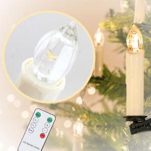 LED Weihnachtskerzen 10X Warmweiß mit Timerfunktion kabellose Hochzeit
