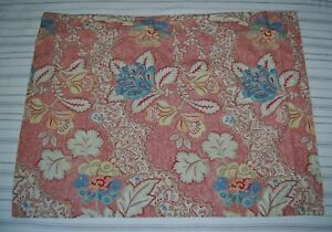 Pottery Barn Baroque Floral Print Standard Cotton Pillow Sham, Flawless!!