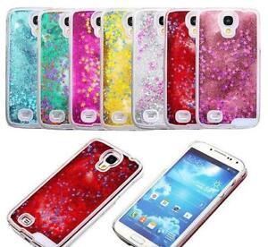 Samsung Galaxy Handyhülle Cover Hülle Case Glitzer Stern Flüssig Sternenstaub