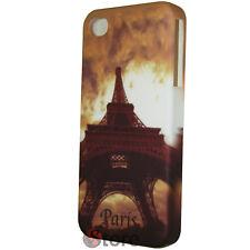 Cover Custodia Rigida Per iPhone 4/4S Paris Vintage Pariggi + Pellicola Display
