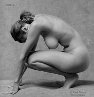 B&W Fine Art Nude Model, signed 8.5x11 photo by Craig Morey: Natalie 81425.49