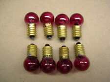 8 Red 14v Blinking Bulbs for American Flyer Accessories