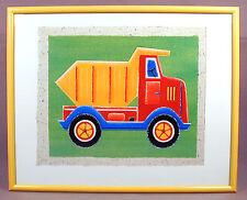 Children's Framed Print Simon Hart Dumper Truck Free Shipping