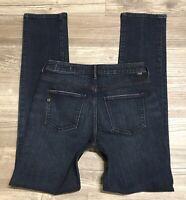 Jag Jeans Women's Mid Rise Slim Leg Denim Jeans Size 4 Distressed Stretch EUC C3