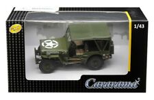 1/4 Ton Soft Top Military Jeep Green US Army 1/43 Scale By Cararama 4-90180