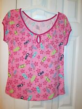 NWOT Secret Treasures Sleepwear, Women's Pink Flip Flop Pajama Top, Size S(4/6)