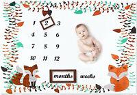 Baby Milestones Blanket Boys and Girls Weekly Monthly Milestones Blankets